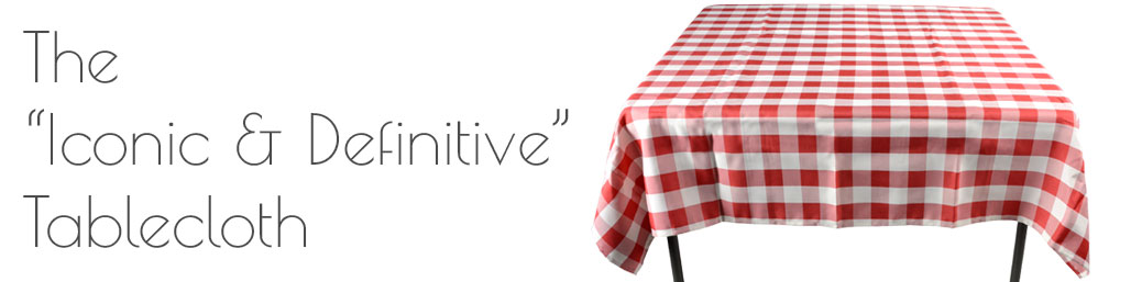 The classic country cafe checkered table cover