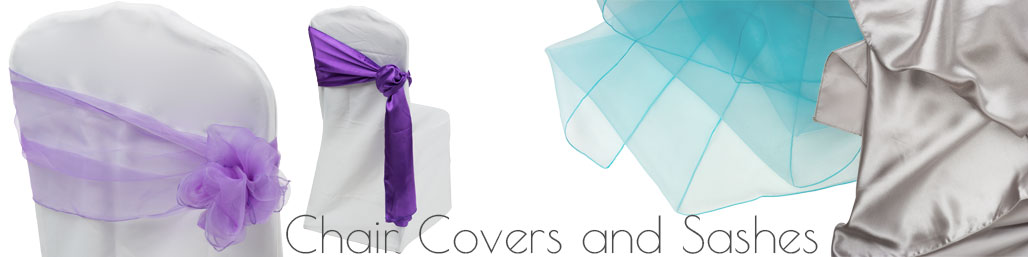 Decorative chair covers and sashes