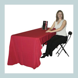 3-sided/open back table cover for exhibits