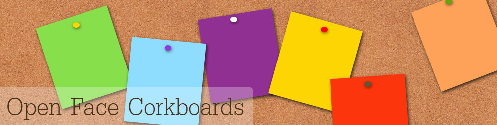 open face tack board displays