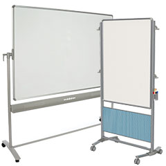 Presentation easels with wheels