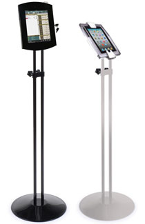 adjustable height floor stands