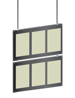 illuminated hanging cable displays