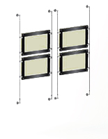 wall to wall illuminated cable displays