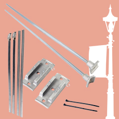 lamp post banner hardware