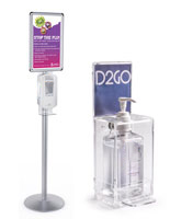 Freestanding and wall mounted hand sanitizer dispensers