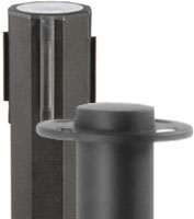 Black Stanchions with Retractable Belts