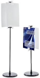 Clip poster stands