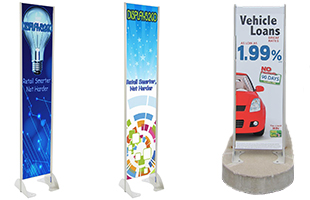 Permanent Exterior Banner Stands
