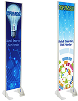 Permanent Outdoor Banner Stands