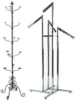 Free Standing Clothing Display Racks