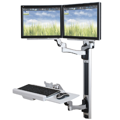 Wall Mounted Workstations for Computers & Monitors