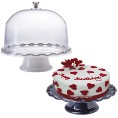 Cake Pedestals with Domes