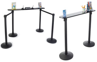 Convenient Stanchion Writing Tables