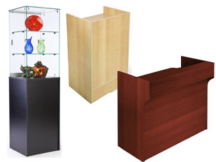 Display Cases Made of Manufactured Wood