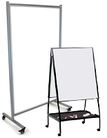 Portable Dry Erase Boards  - Floor Standing with Wheels