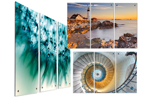 Three Panel Acrylic Stock Artwork