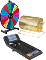 Prize Wheels and Trade Show Games - Raffle Drums, Pinball & Prize Drop