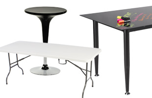 commercial grade tables including glass whiteboard style