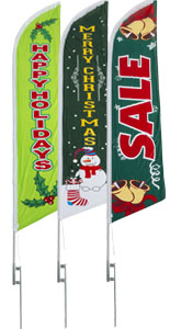 Holiday Business Flags