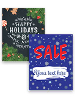 Seasonal retail posters for holiday advertising
