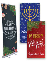 holiday business banners