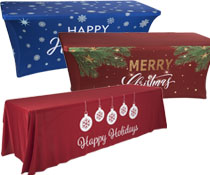 Holiday event table covers
