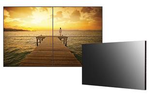 low profile video walls with ultra thin bezel
