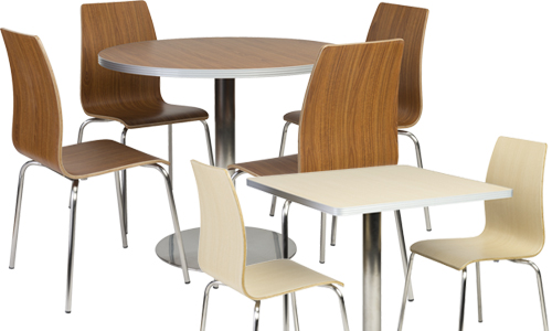cafeteria and breakroom table and chair sets