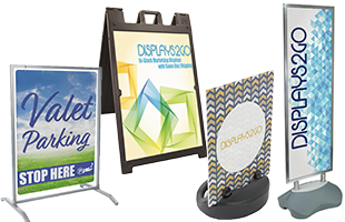 outdoor printed pavement signs