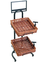 Impulse Purchase Fixture Wicker Tray Stand