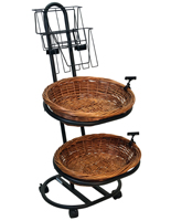 Black Bread Basket Display Stand