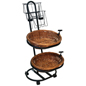 Wire and Tube Bread Basket Display Stand