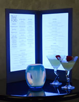 Back Lit Menu