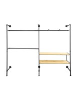Double Pipe Outrigger Wall Display with 2 Shelves