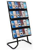30.5 inch x 57.5 inch 4-tiered literature display stand with metal frame