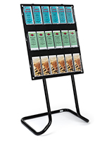 30.5 inch x 57.5 inch tiered acrylic literature floor stand is a portable display