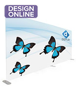 Stretch fabric tube display wall custom full color graphic
