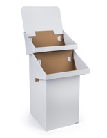 Cardboard Stand with Removable Header