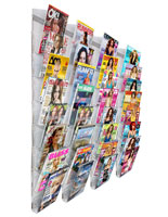 Wall Mount Magazine Organizer