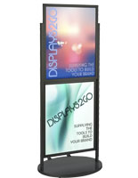 Black Dual 22 x 28 Mobile Poster Display with PVC Backer