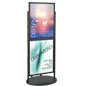 Black Dual 22 x 28 Mobile Poster Display, Top Loading