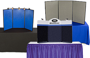 3-panel tabletop display boards