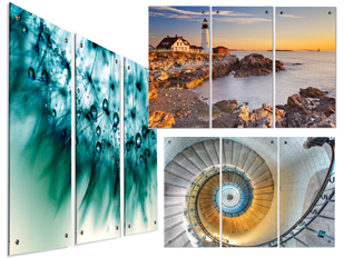 3 panel wall art on acrylic artwork for office walls