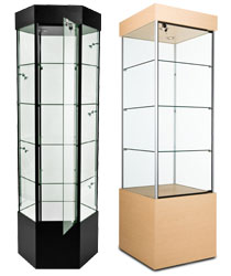 narrow display cases
