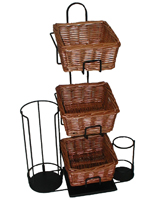 Willow Basket Condiment Organizer