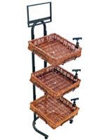 Square Tiered Basket Floor Stand