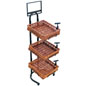End Cap Tiered Basket Floor Stand