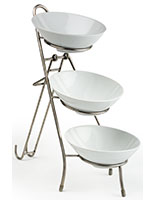 Tiered Buffet Server with (2) Melamine Bowls