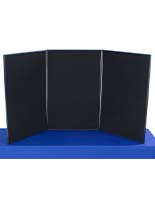 Exhibition Display Boards : Folding display boards portable tri fold exhibition stands